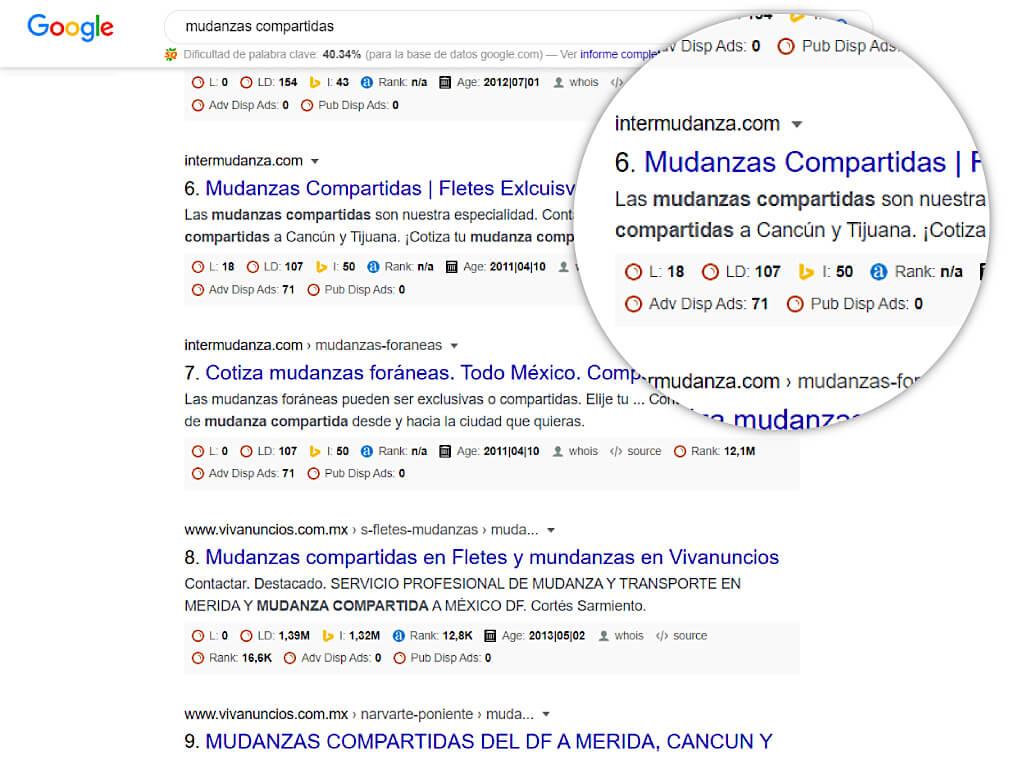 google ads para mudanzas